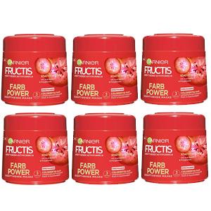 Pack de 6 unidades Mascarilla Garnier Fructis Color Power