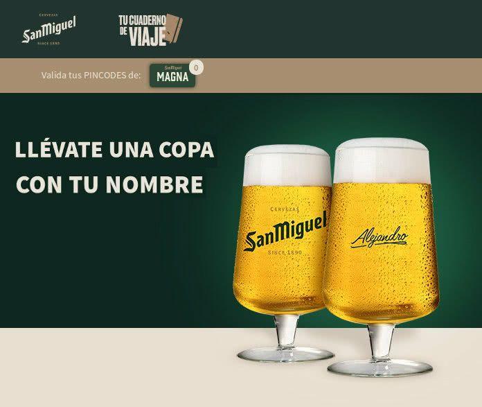 Gratis Copas San Miguel personalizadas