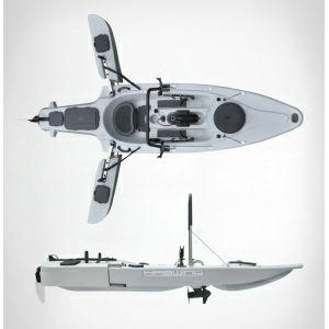 Kayak Pesca Haswing con Fueraborda Electrico Osapian 40 Lb