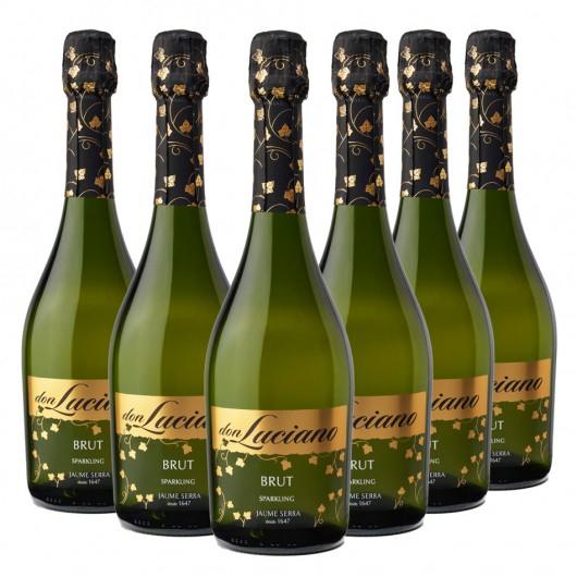 Don Luciano Vino Espumoso Brut - 6 Botellas x 750 ml- Total: 4500ml