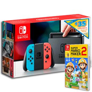 Nintendo Switch + Super Mario Maker 2 + 35€ para la Eshop