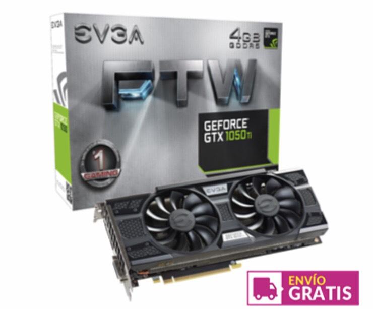 EVGA GEFORCE GTX 1050 TI FTW GAMING 4GB GDDR5 - TARJETA GRÁFICA GAMING