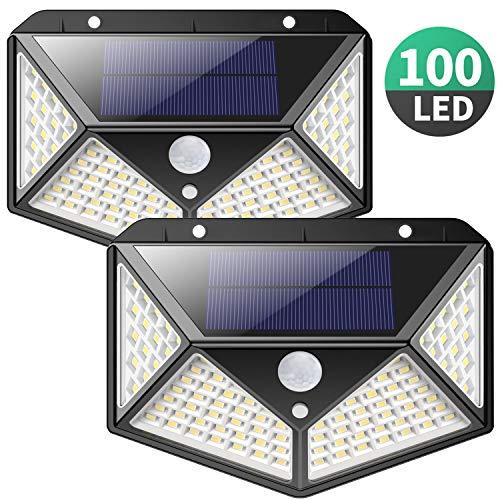 Pack luz solar exterior de 100 LED