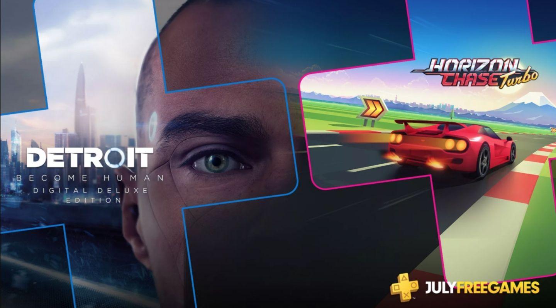 Detroit Become Human Deluxe + Heavy Rain y Horizon Chase Turbo - PS Plus Julio 2019