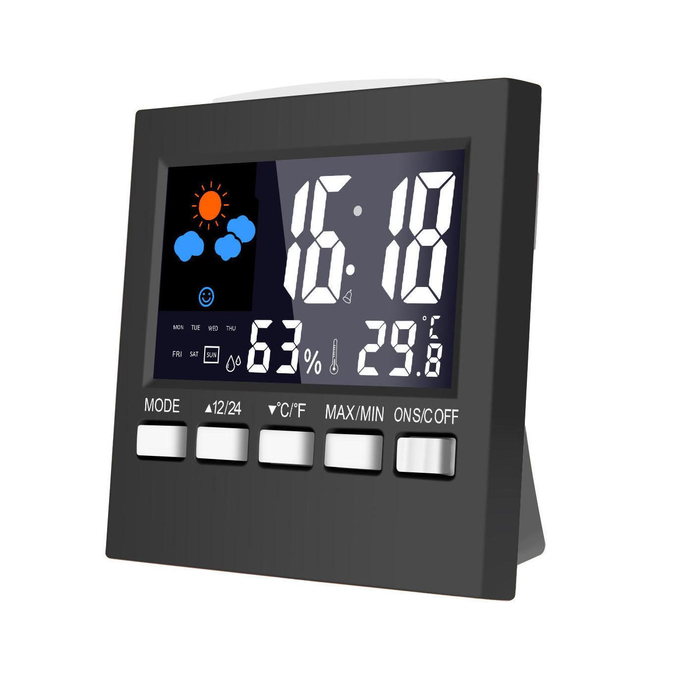 Estación meteorológica digital, reloj, despertador, Loskii DC-001
