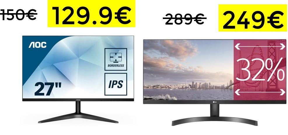 "Monitor AOC 27"" IPS Full HD solo 129€"