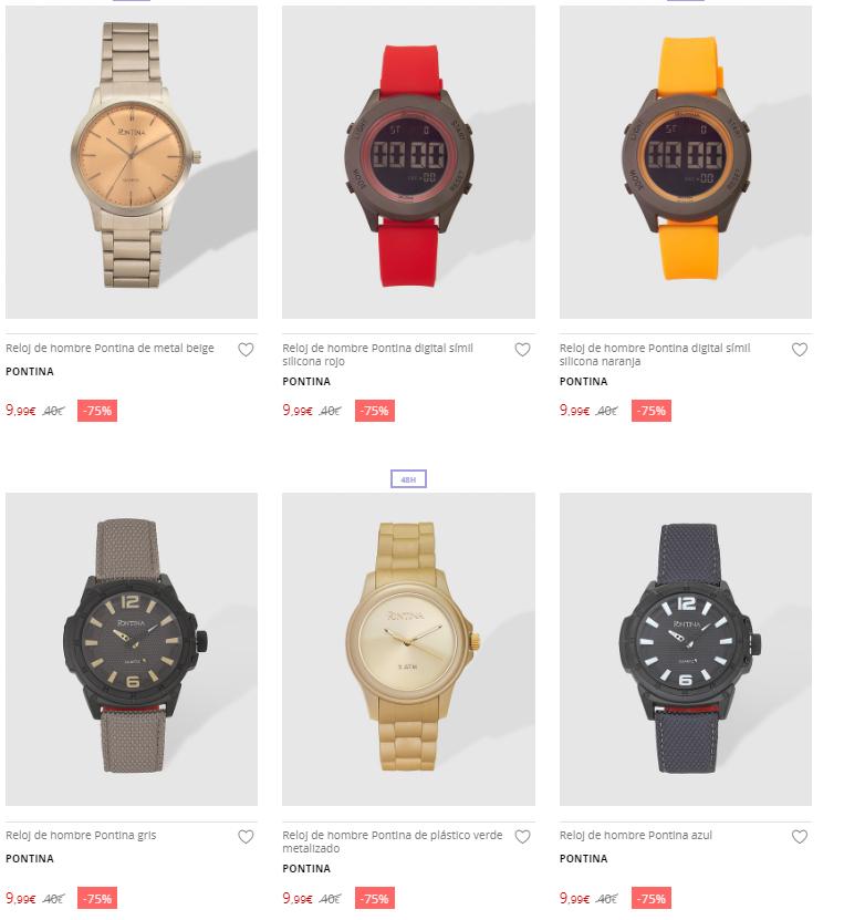 Relojes para hombre a 9,99€