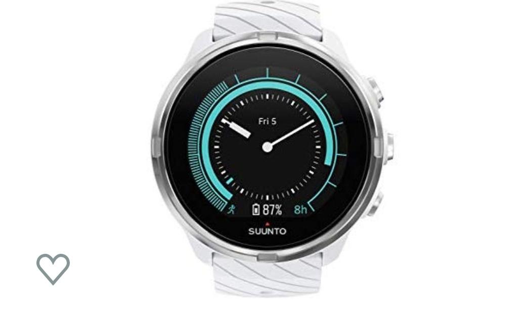 Suunto 9 Multisport-GPS-Uhr, Unisex, White