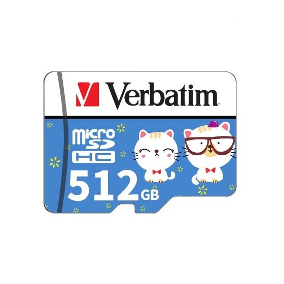 Verbatim Tarjeta Micro SD Class10 TF Tarjeta 512 GB