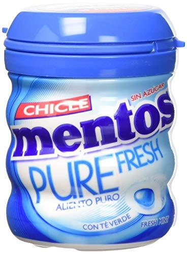 Mentos Chicle Sin Azúcar Pure Fresh Bote con Sabor a Menta - Pack de 6 x 60 gr.