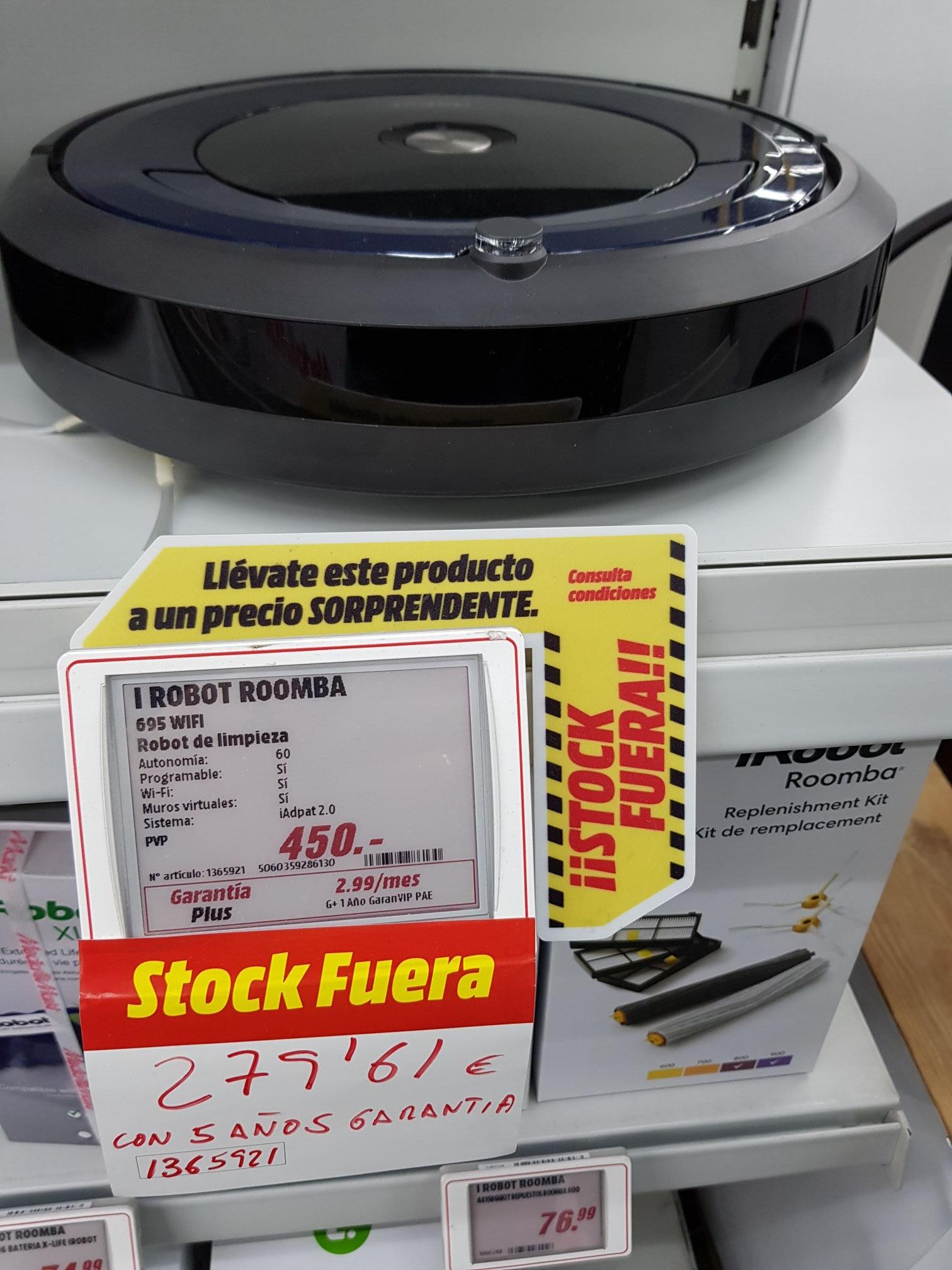 Roomba IRobot 695 Wifi (Mediamarkt Mairena Aljarafe) Sevilla