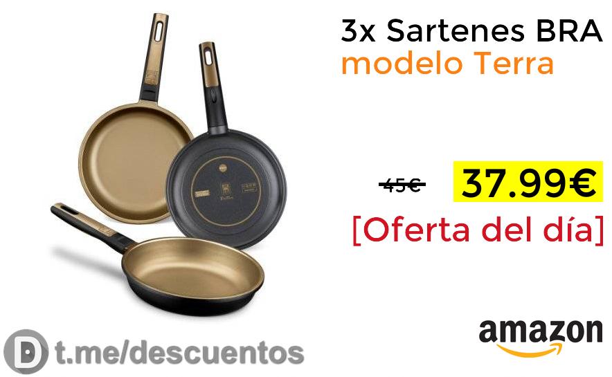 3x Sartenes BRA modelo Terra solo 37.99€