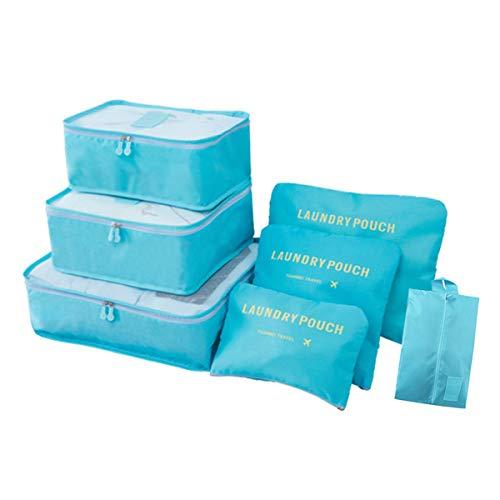 Organizador de equipaje de viaje, 7 piezas impermeables