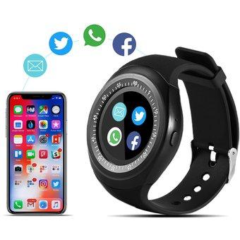 Alfawise Y1 696 Reloj Deportivo Inteligente Bluetooth con Función de Teléfono Independiente - Negro