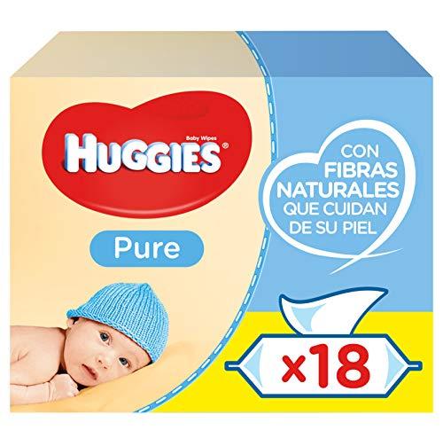 18 paquetes de 56 toallitas Huggies por 17,75€