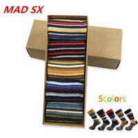 5 pares de Calcetines de algodón cromático de varios colores