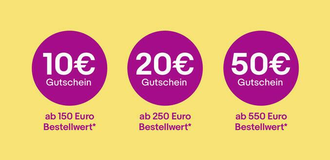 Cupón EBAY: 10€ dto x 150€ // 20€ dto x 250€ // 50€ dto x 550€