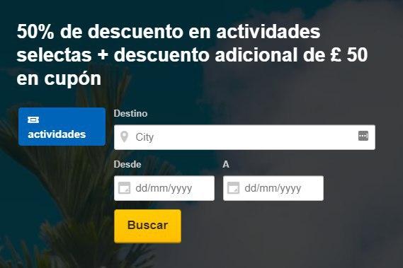 Hasta 50% + 55€ Descuento en Actividades