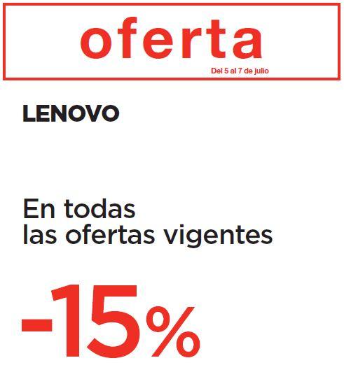 15% de descuento adicional en todo Lenovo