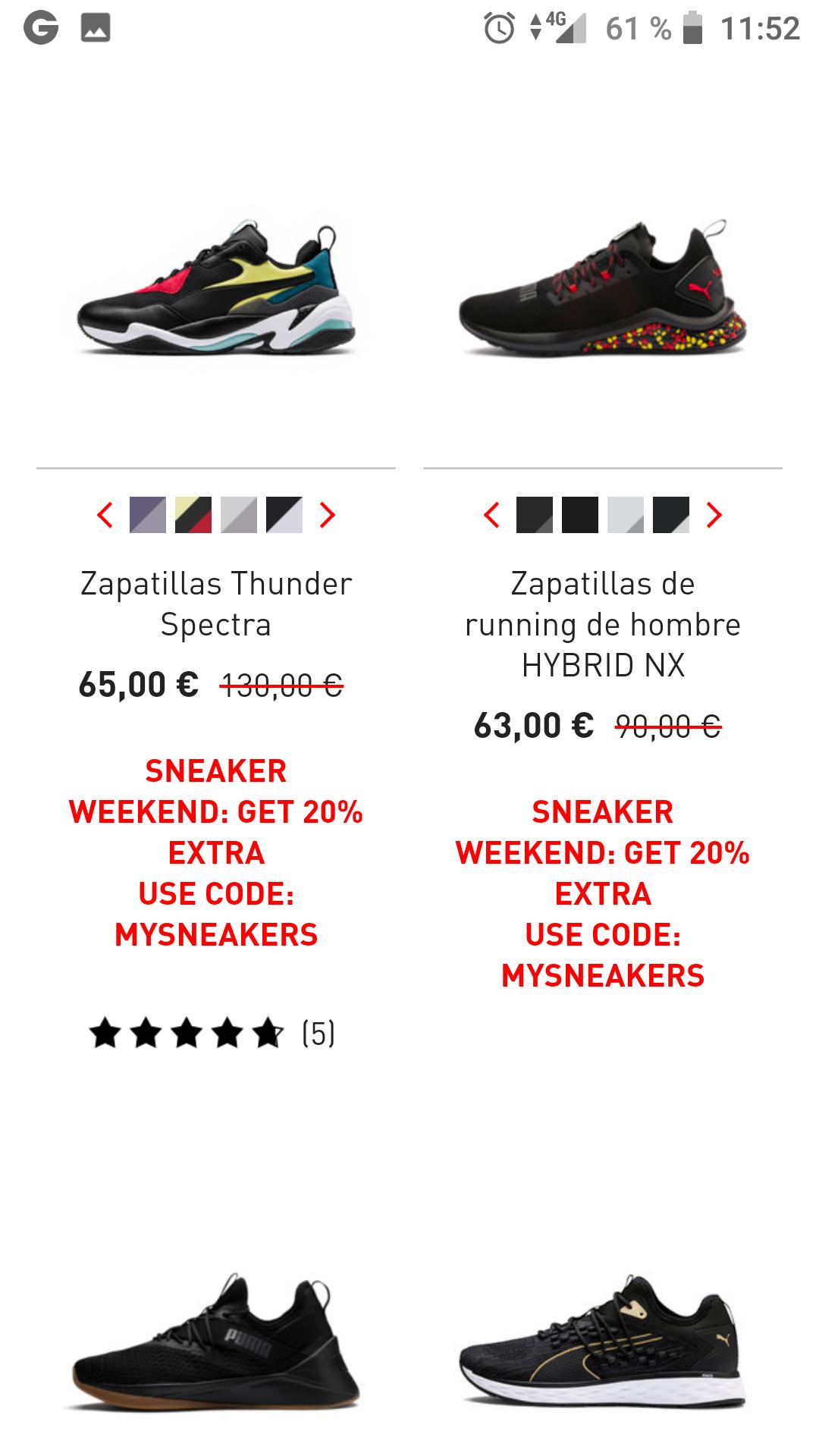 Zapatillas PUMA  ( envíos gratis a partir de 75€)