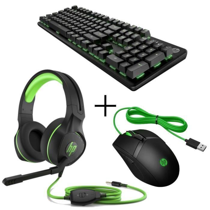 Pack HP Pavilion gaming: ratón  + auriculares + teclado