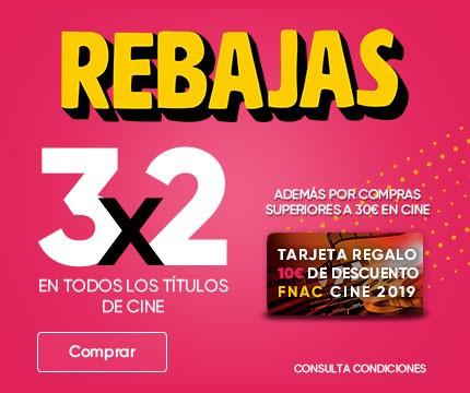 3x2 +10 euros de regalo gastando 30 Cine FNAC