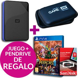 4TB Disco Duro PS4 + DQHeroes2 + Pendrive 32/16GB