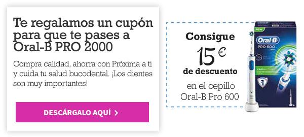 -20€ y -15€ por la compra del cepillos Oral-B