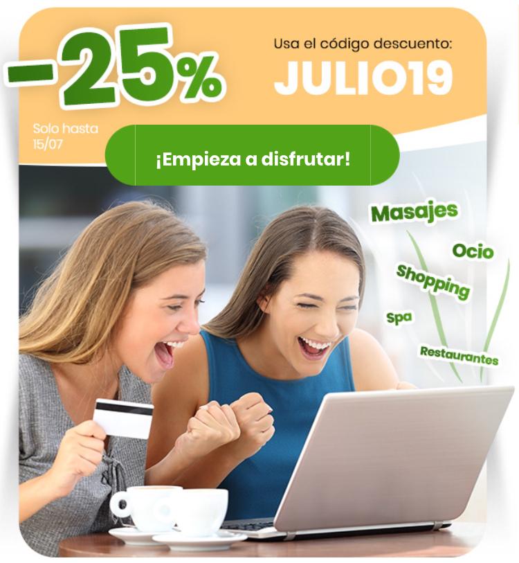 -25% Cupon Descuento Groupon