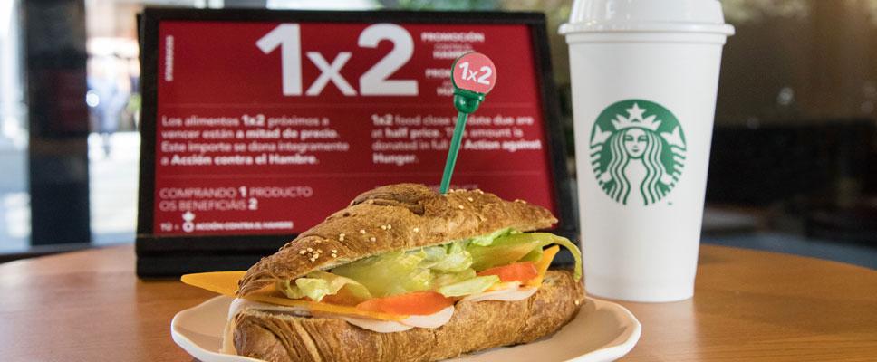 Starbucks al 50% contra el hambre