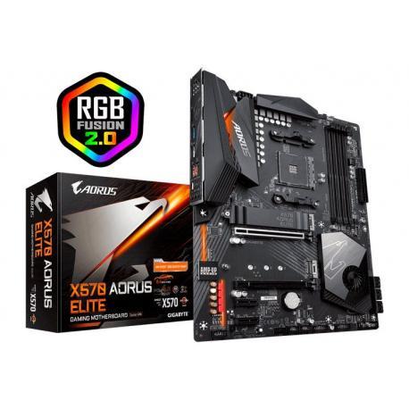 Placa Base X570 Aorus Elite Gigabyte - Hasta 3950x OC (12+2 Phases Digital VRM)