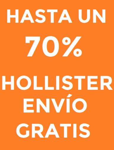 Hollister 70% descuento + envío gratis sin pedido mínimo