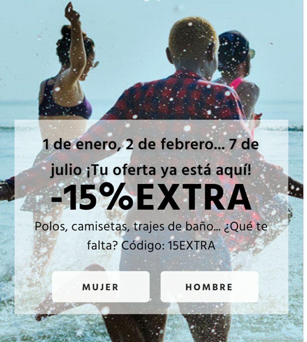 FIFTY 15% EXTRA EN CATEGORIA PLAYA