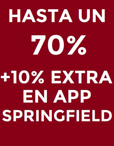 Hasta 70% de dto en Springfield + 10% adicional desde la app