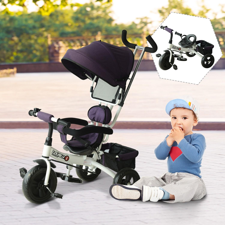 Triciclo para Niños con Capota HomCom
