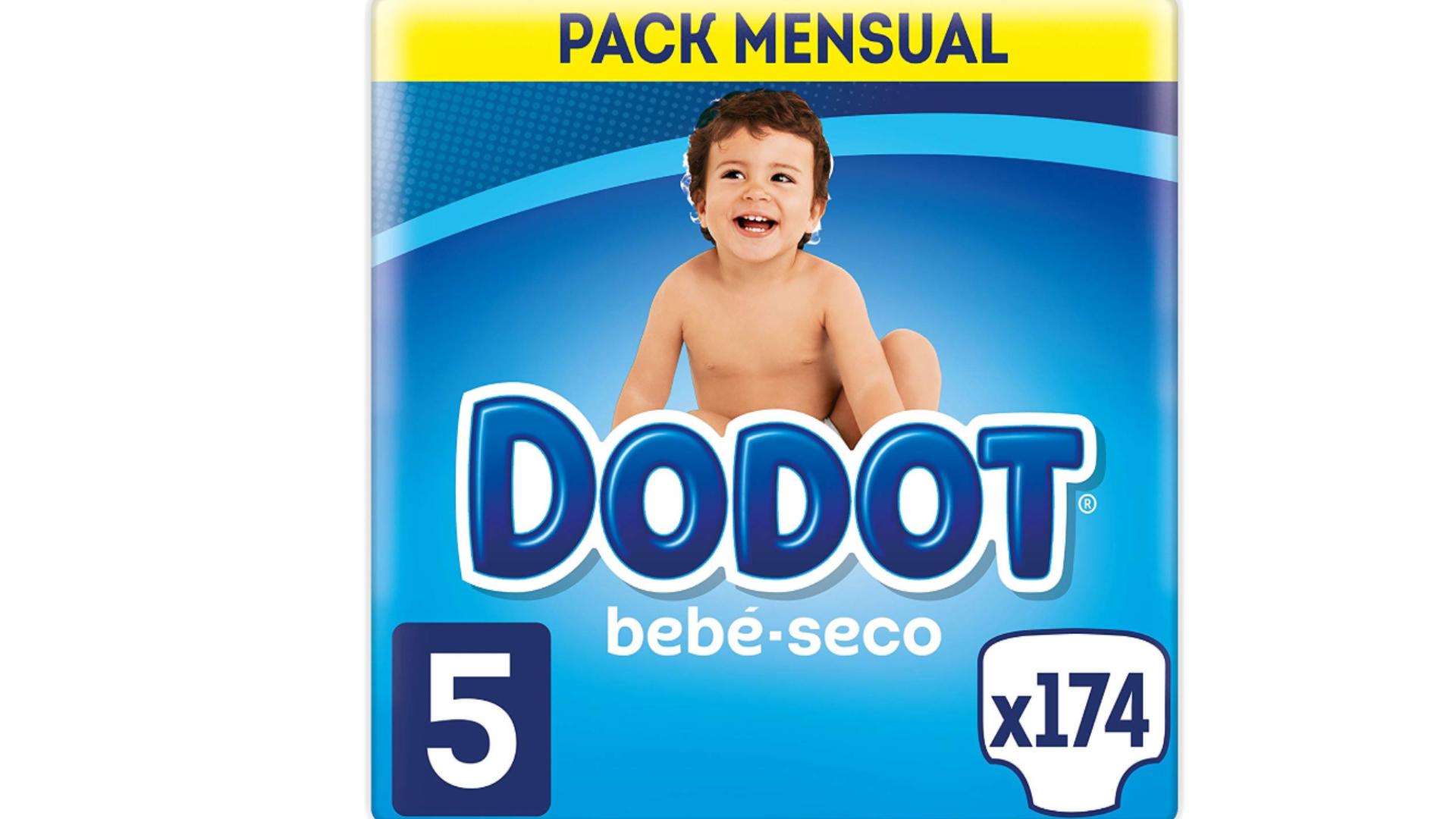 Dodot Bebé-Seco Pañales Talla 5, 174 Pañales