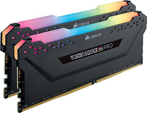 Corsair Vengeance RGB Pro - Kit de Memoria Entusiasta 16 GB (2 x 8 GB), DDR4, 3000 MHz, C15, XMP 2.0, Iluminación LED RGB, Negro