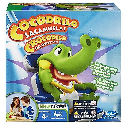 Hasbro - Cocodrilo sacamuelas, Juego de Habilidad (B04081750) (versión española / Portuguesa)