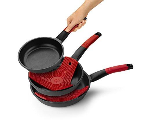 BRA - Set de 3 sartenes 18, 22 y 26 cm aptas para todo tipo de cocinas
