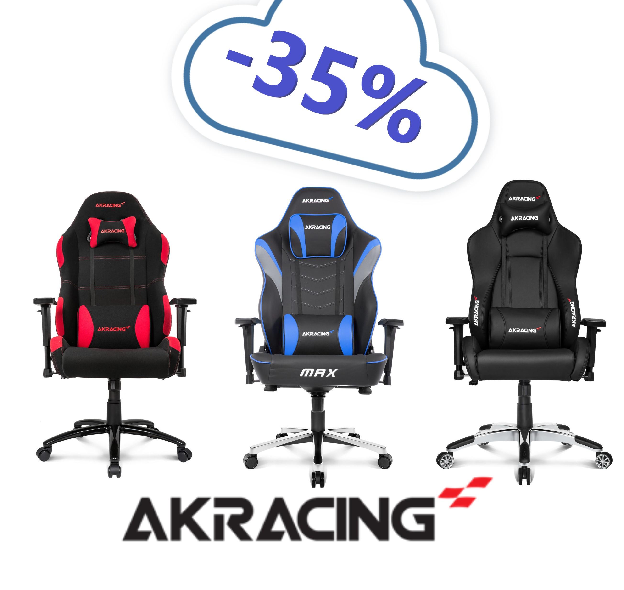 Sillas Gaming AKRacing (35% de Descuento)
