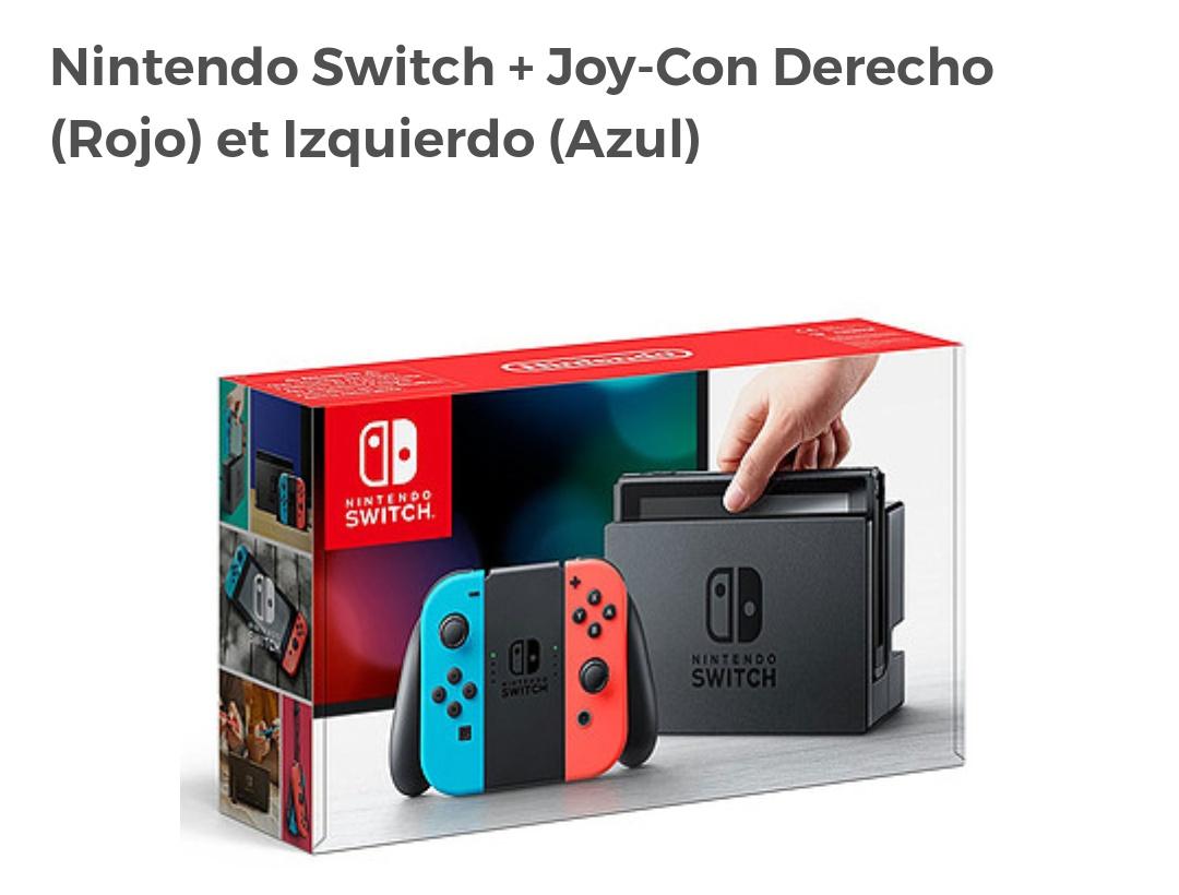 Nintendo Switch + Joy-Con Derecho (Rojo) et Izquierdo (Azul) Mínimo