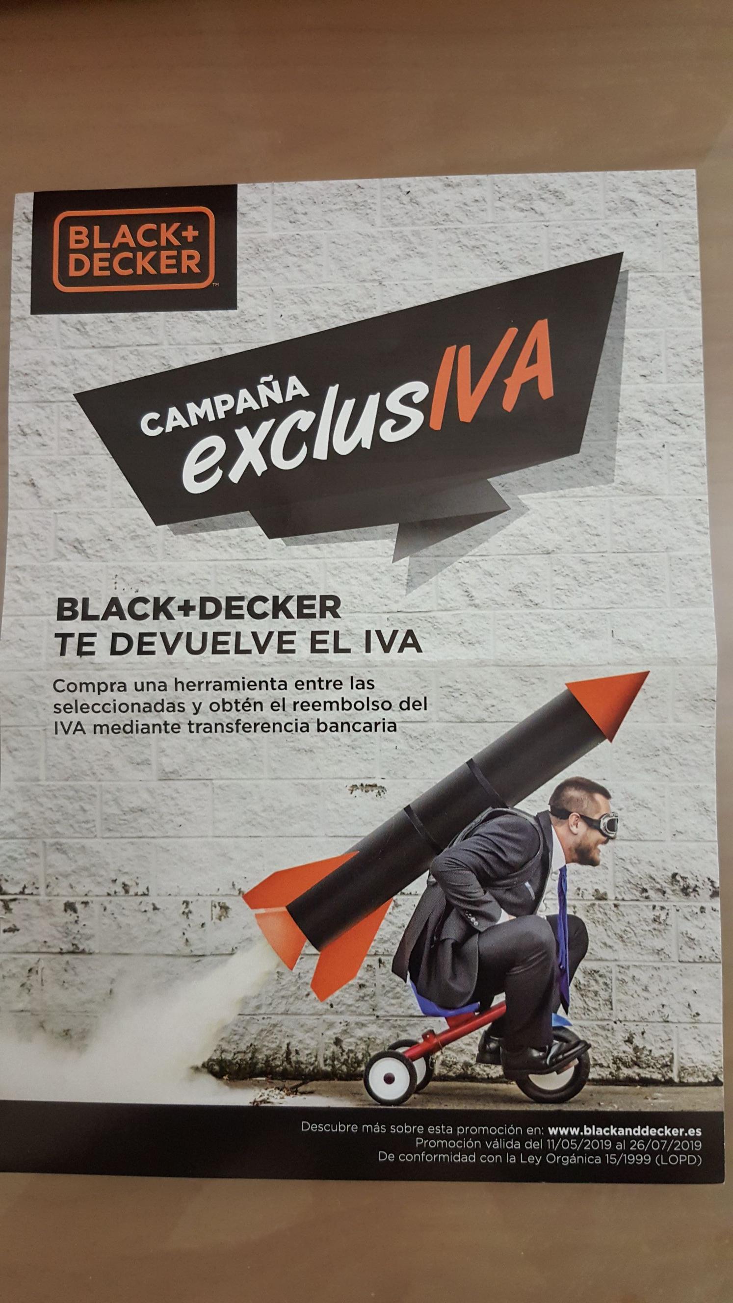 Black+decker te devuelve iva