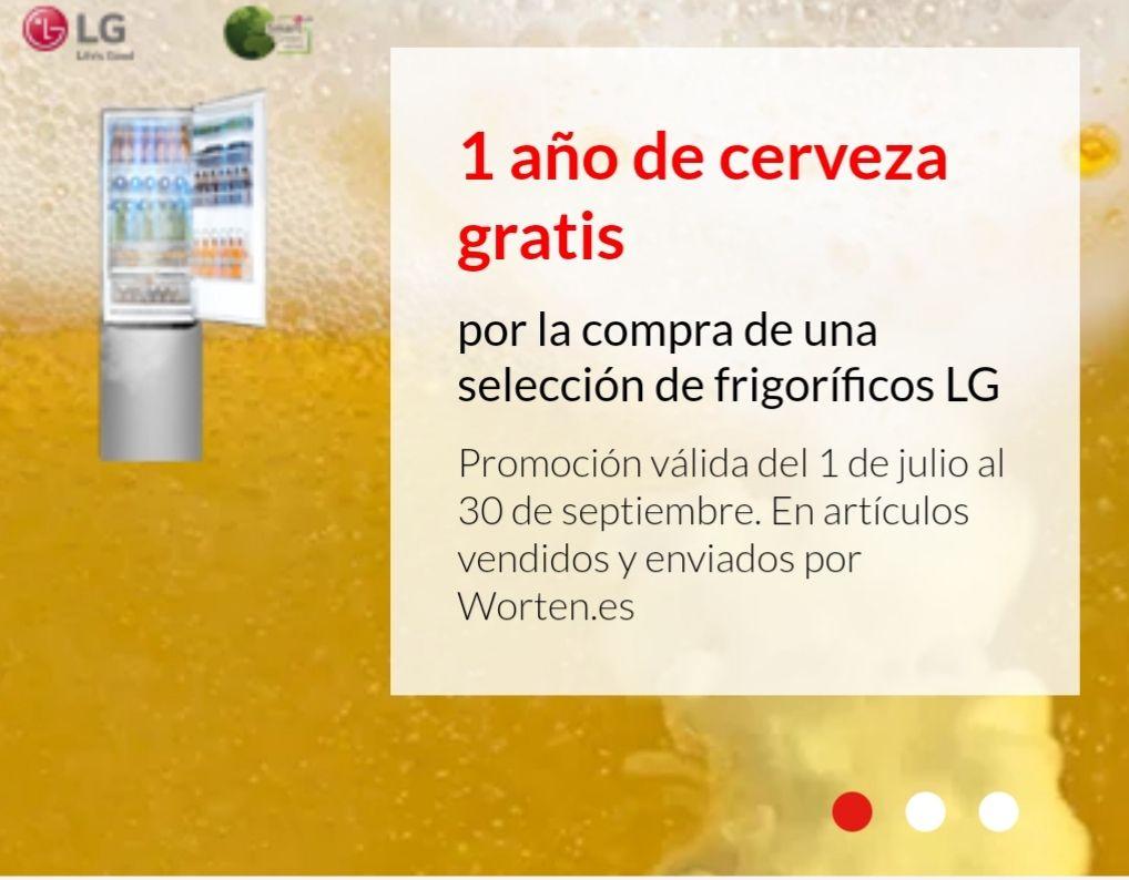 6 meses de cerveza gratis por la compra de un frigorífico LG