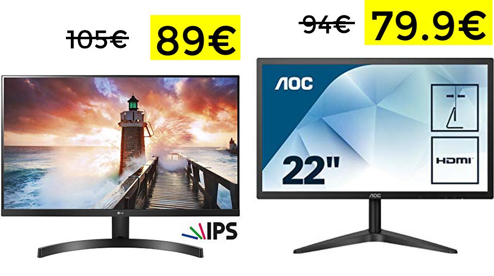 """Preciazos en monitores LG y AOC 22"""""""