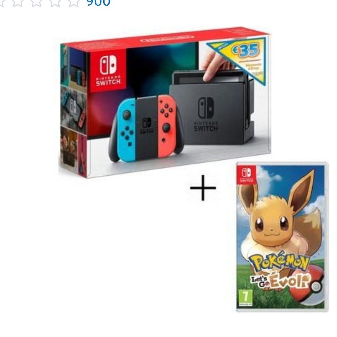 Nintendo switch + 35 crédito + Pokémon Let's go Eevee