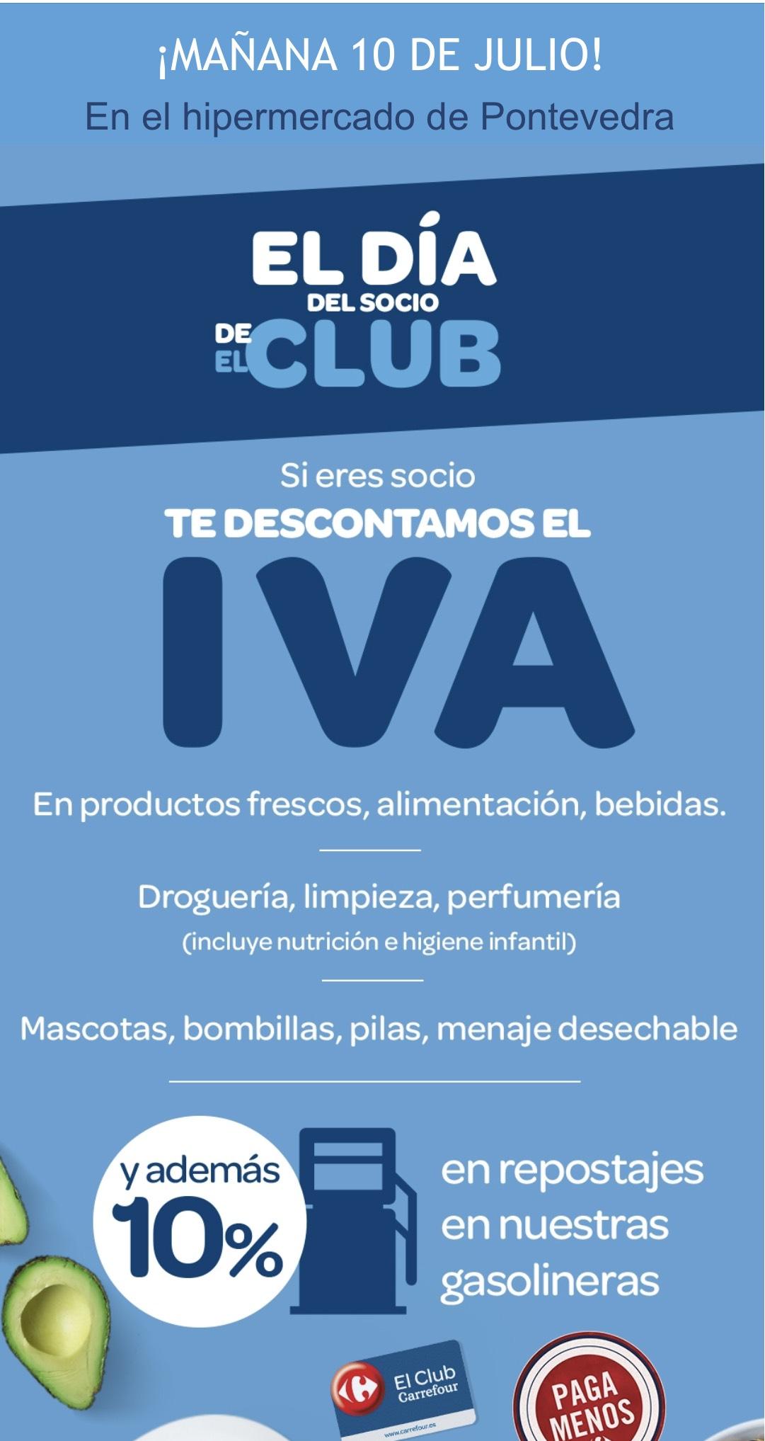 Día sin iva carrefour 10 de (Supuestamente  solo para la provincia de Pontevedra) y mañana día 11 en todos los carrefour