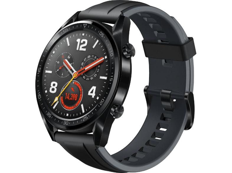 Smartwatch - Huawei Watch GT, 46 mm, 1.39'' OLED, GPS, TruSleep, Correa negra