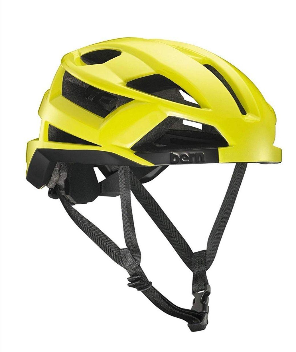 Bern FL-1Casco de ciclismo, Color Yellow Glossy, tamaño S. Solo Talla S