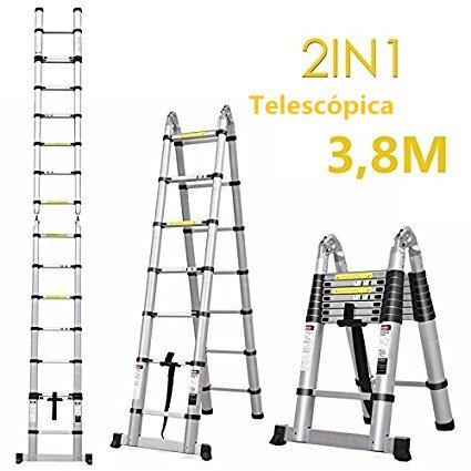 Escalera telescópica multiuso 3,8M
