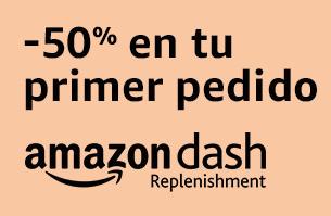 -50% en tu primer pedido AMAZON DASH